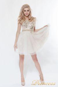 Платье на выпускной 8104. Цвет цветочное. Вид 3