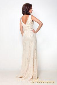 Вечернее платье 8126. Цвет шампань. Вид 3