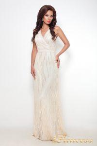 Вечернее платье 8126. Цвет шампань. Вид 1