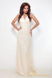 Вечернее платье 8126. Цвет шампань. Вид 2