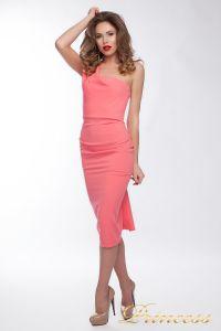 Коктейльное платье 8228. Цвет персиковый. Вид 1