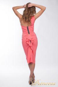 Коктейльное платье 8228. Цвет персиковый. Вид 2