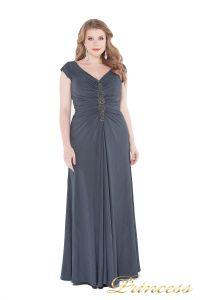 Вечернее платье 826 Gray. Цвет стальной. Вид 2