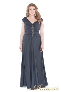 Вечернее платье 826 Gray. Цвет стальной. Вид 3