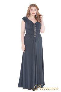 Вечернее платье 826 Gray. Цвет стальной. Вид 1