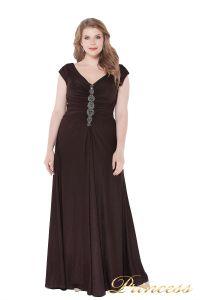 Вечернее платье 826 Coffe . Цвет коричневый. Вид 1