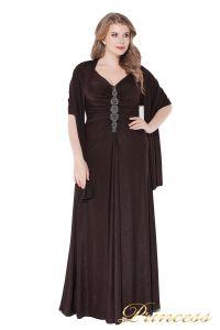 Вечернее платье 826 Coffe . Цвет коричневый. Вид 5