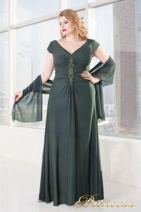 Вечернее платье 826 dark-green. Цвет серый. Вид 1