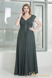 Вечернее платье 826 dark-green. Цвет серый. Вид 2