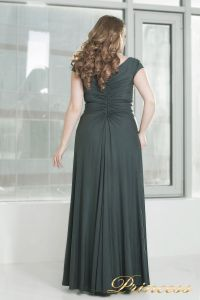 Вечернее платье 826 dark-green. Цвет серый. Вид 3