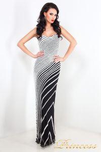 Вечернее платье длинное  8357. Цвет чёрный. Вид 1
