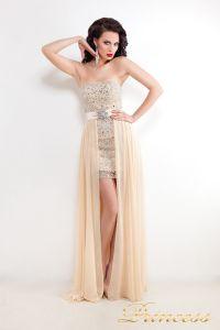 Вечернее платье 8617N. Цвет кремовый. Вид 1