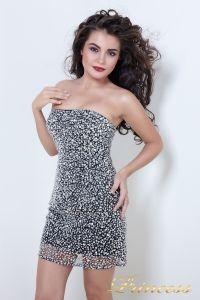 Коктейльное платье 8617B. Цвет чёрный. Вид 1