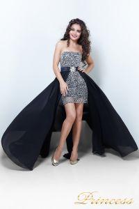 Коктейльное платье 8617B. Цвет чёрный. Вид 2