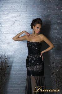 Вечернее платье 8658. Цвет чёрный. Вид 2