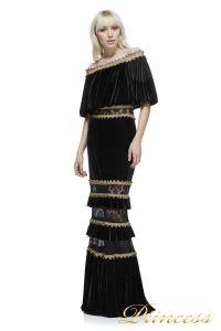 Вечернее платье BAL17635L BK GD. Цвет чёрный. Вид 1