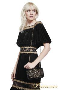 Вечернее платье BAL17635L BK GD. Цвет чёрный. Вид 2