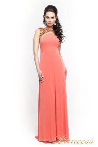 Вечернее платье 8822Y. Цвет оранжевый. Вид 1