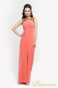 Вечернее платье 8822Y. Цвет оранжевый. Вид 3