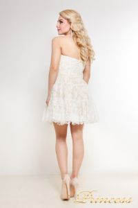 Коктейльное платье 90040. Цвет белый. Вид 2