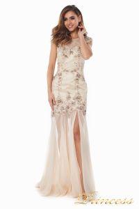 Вечернее платье 90065. Цвет шампань. Вид 2