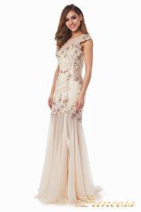 Вечернее платье 90065. Цвет шампань. Вид 3