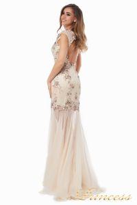 Вечернее платье 90065. Цвет шампань. Вид 4