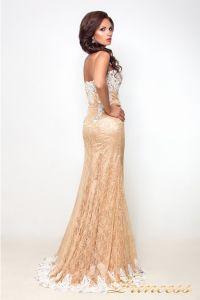 Вечернее платье 9008E. Цвет пудра. Вид 3