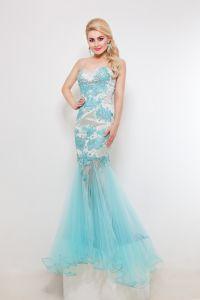 Вечернее платье 9018. Цвет цветочное. Вид 1