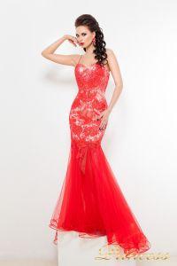 Вечернее платье 9018R. Цвет цветочное. Вид 1