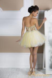 Коктейльное платье 91286 . Цвет шампань. Вид 5