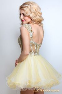 Коктейльное платье 91286 . Цвет шампань. Вид 3