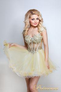 Коктейльное платье 91286 . Цвет шампань. Вид 4
