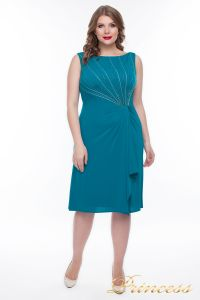 Коктейльное платье  9164S_aqua. Цвет зеленый. Вид 1