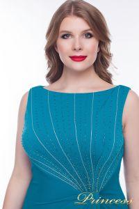 Коктейльное платье  9164S_aqua. Цвет зеленый. Вид 2