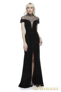 Вечернее платье BAL16651L BLACK 7. Цвет чёрный. Вид 1