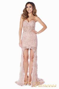 Вечернее платье 92545. Цвет розовый. Вид 3