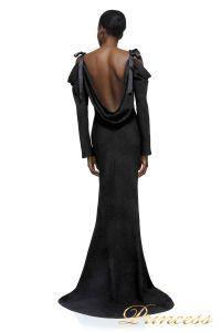 Вечернее платье AXX17589L BLACK 1. Цвет чёрный. Вид 2