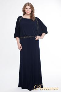 Вечернее платье 950_navy. Цвет синий. Вид 2