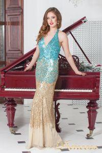 Вечернее платье 9601. Цвет золото. Вид 2