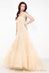 Свадебное платье 96116B. Цвет кремовый. Вид 1