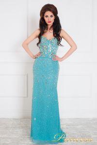 Вечернее платье 96127С. Цвет голубой. Вид 1