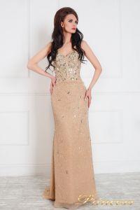 Вечернее платье 96127. Цвет бежевый. Вид 1