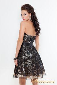 Коктейльное платье на выпускной 78359B. Цвет чёрный. Вид 2
