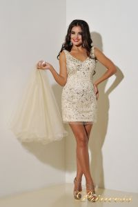 Коктейльное платье 96139B. Цвет пастельный. Вид 2