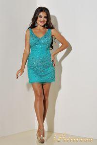 Вечернее платье 96139LG. Цвет зеленый. Вид 5