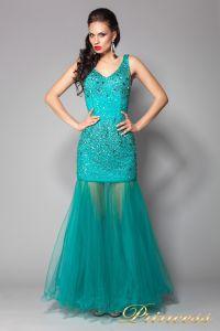 Вечернее платье 96139LG. Цвет зеленый. Вид 1