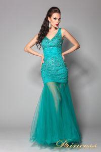 Вечернее платье 96139LG. Цвет зеленый. Вид 2