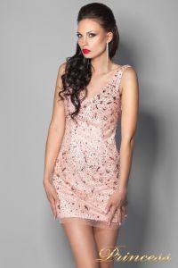 Вечернее платье 96139LP. Цвет розовый. Вид 3