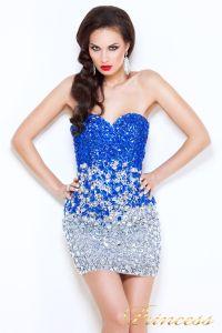 Коктейльное платье 96144. Цвет стальной. Вид 1